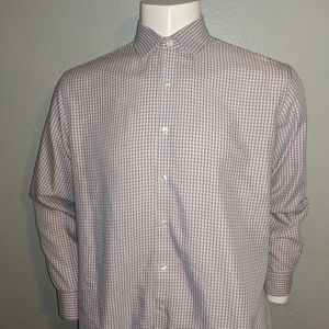 Kennth Cole Reaction Pink & Blue Check Shirt Excel